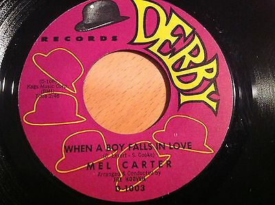 Mel Carter-When A Boy Falls In Love-Derby D-1003. Vg+