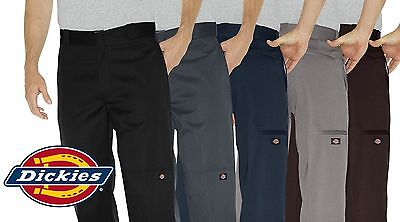 New Dickies Men's Double Knee Work Pants 85283 Loose Fit CH SV KH BK MH DN DB