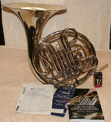 Holton H-179 Farkas Professional Fixed Bell Double French Horn w Case and More