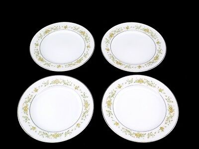 Style House Fine China Mayfair Platinum Trim Dishes Dinner Plates Lot of 4