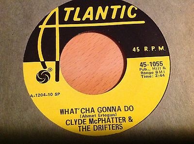 DRIFTERS-WHAT CHA GONNA DO/GONE-ATLANTIC 1055. 2nd ISSUE. VG+