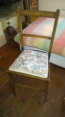 3 x Edwardian Hall Chairs / Bedroom Chairs