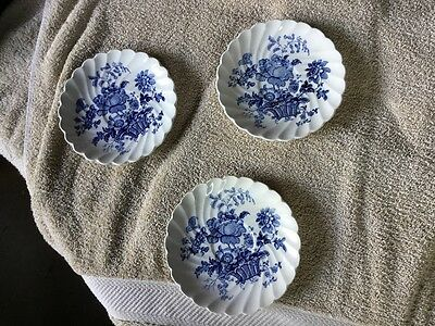 Charlotte Clarice England Royal Staffordshire England , 3 Saucers  blue