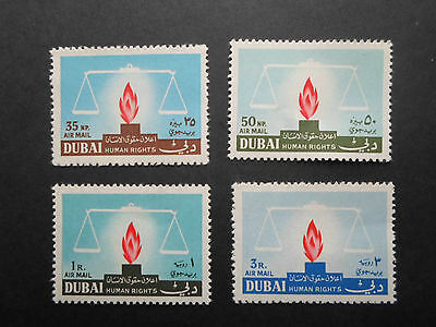 Dubai Stamps Sg77-80 Reversed Flame