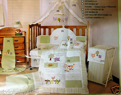 New 6Pcs Hush Bubba E.I.E.I.O FARMYARD Cot QUILT Set(OFFER ONLY FOR METRO AREA )