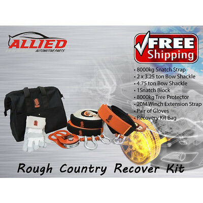 Rough Country Full Recovery Kit 4Wd Recovery 4X4 Snatch Strap Shackle - Rcrk2
