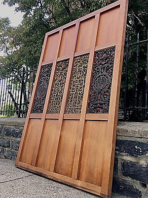 Antiuque Chinese Carved Room Divider