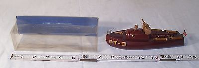 Tillicum Wooden Pt-9 Military Boat Toy Milton Bradley Reproduction Boxed