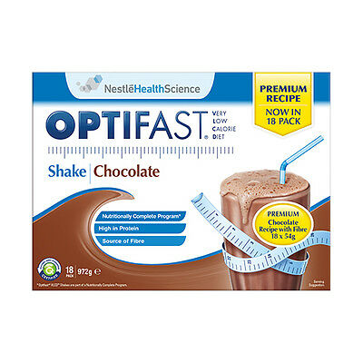 NEW Optifast VLCD Chocolate Flavour - 18 Sachets