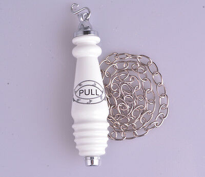 Traditional Style Ceramic Chrome Chain Flush Pull for high level cistern toilet