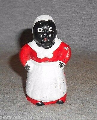 "Aunt Jemima GRANNY Child's Cast Iron Dime Bank MINIATURE SIZE PAPERWEIGHT 3"" H"
