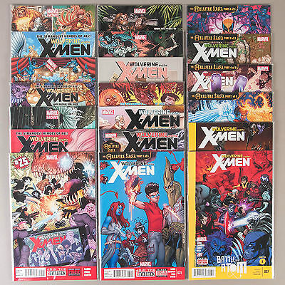 Wolverine and the X-Men #19-37, Full Run, Lot of 20 Marvel comics, comp. VF+ set