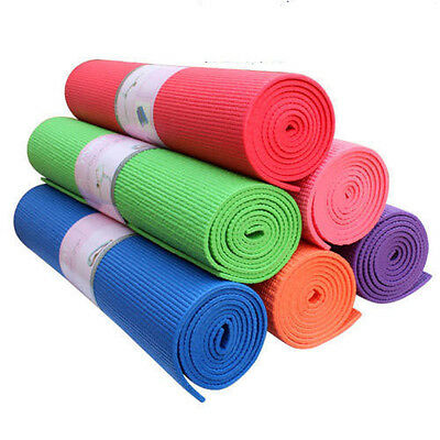 Yoga Exercise Workout Mat Pilates Fitness Lose Weight  Durable Gym Non Slip