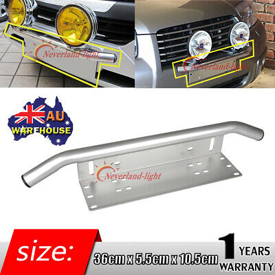 Bumper License Plate Mount Bracket Driving Light Bar Holder Universal Offroad