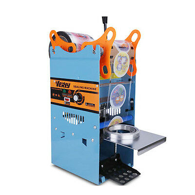 Manual 220V 270W Cup Sealer Sealing Machine Coffee Boba Bubble Tea 500 Cups/hr