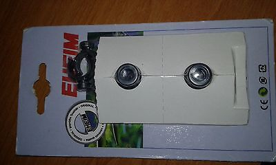 EHEIM 4015150 - 16/22mm SUCTION CUP/ PIPE CLIP x 2. AQUARIUM
