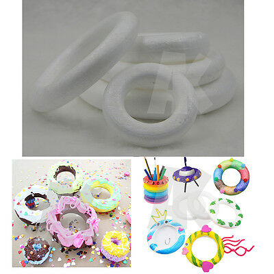Polystyrene Styrofoam Ring Foam Accessory DIY Handmade Decorations Party New