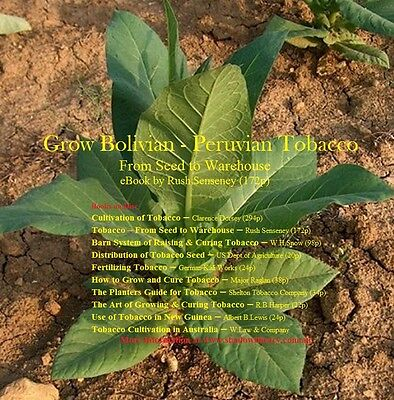 CD - Grow Bolivian-Peruvian Tobacco from Seed to Warehouse - 10 eBooks