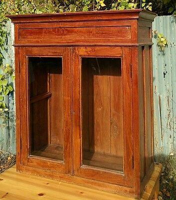 Antique table top  display cabinet wooden glass fronted beautiful piece
