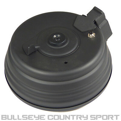 Pirate Arms  Airsoft Electric A K Series Drum Magazine 2500 Rd C.38 Black Metal