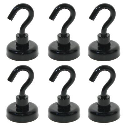 AU 6x 22kg Strongest Rare Earth Neodymium Magnet Magnetic Hanging Hooks Holder
