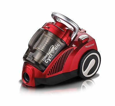 TurboCyclonic 1400W 3L Compact Bagless Cylinder Vacuum Cleaner Hoover RED