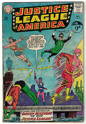 DC Comics JUSTICE LEAGUE OF AMERICA The World's Greatest Superheroes No 24 VG-