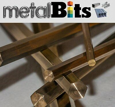 Brass Hexagon bar CZ121 (Sizes available 150mm, 300mm, 500mm, 1000mm) Imperial