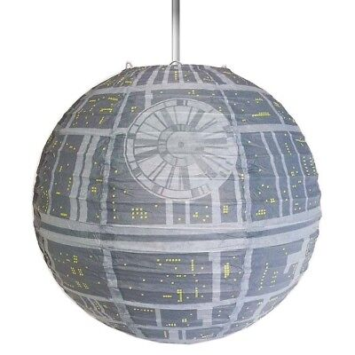 Officially Licensed Printed Death Star Light Shade Star Wars Design Paper Lamp