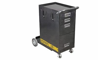 Welding Storage Cabinet Push Rolling Cart 3 Shelves Organizer MIG TIG ARC Tank