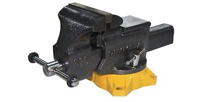 6 in. Mechanic's Bench Table Vise Pipe Jaws Clamp Swivel Base Wood Metal Anvil
