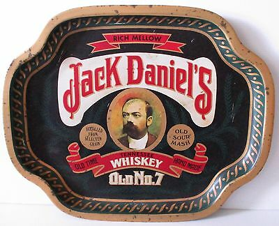 Jack Daniels full metal design carry drinks tray for home bar or pub collector
