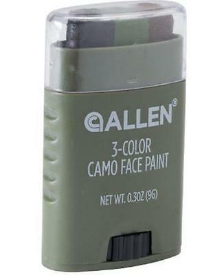Allen 3 Three Color Face Painting Stick Easy Applicator Camo Camouflage Hunting