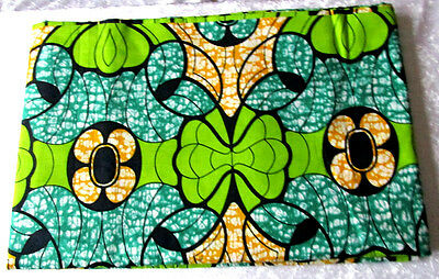 ISBN- 0140, Cotton Wax Print by V.I .P GOLD Holland. 6 yards Width 46''. £44.99