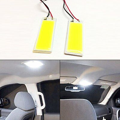 2pcs 12V 36-COB LED Xenon HID White Dome Map Light Bulbs Car Interior Panel Lamp