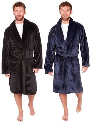 ca1f2513f7 Mens Sleepy Joes Luxury Thick Super Soft Feel Dressing Gowns Robes Wraps M- 5XL