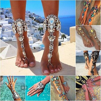 Quality Diamond Beach Foot Body Hand Chain Anklet Necklace Bracelet Shiny Gift