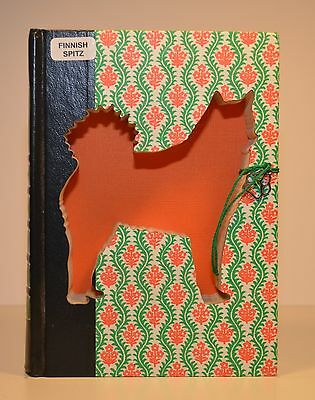 Finnish Spitz Upcycled Book - 003