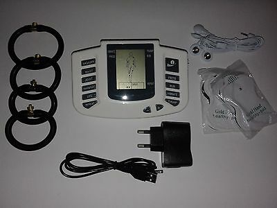 Electrosex,tens Estim High Power Usb Lcd Unit With 4 Rings & 12 Pads!uk Seller !
