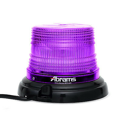 "4"" Inch Dome 12 LED Magnet/Permanent Mount Funeral Vehicle Beacon Light - Purple"