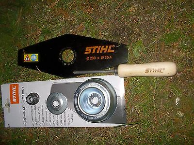 Stihl Fs55 / 55R / 55C / 55Rc Fs70 Double Toothed Blade,locking Pin +Fitting Kit