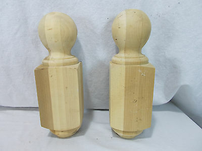 Vintage Turned Wood NEWEL POST Ball Finial Architectural Salvage New Old Stock