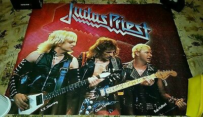 Judas Priest Vintage Promo Poster 1980S Large Defenders Of The Faith