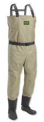 Men Orvis Silver Label Classic Breathable Stocking Foot Fishing Wader Sz Medium