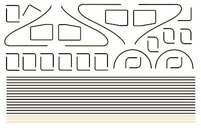 Modelmaster 4088 Oo Lining For Lner & Br A4 Locos Waterslide Transfer Decals