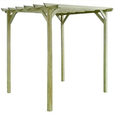 Wooden Garden Pergola Structure Climbing Plants Patio Seating Area Decor Timber