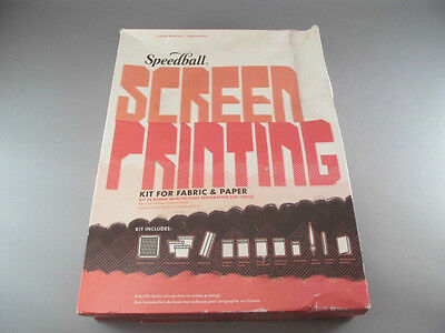 Vintage Speedball Screen Printing Kit For Fabric Or Paper No Instructions