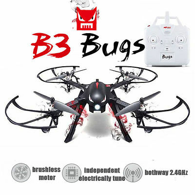 MJX Bugs 3 B3 2.4G 6-Axis Brushless 3D Roll Led RC Quadcopter w/Camera Mount RTF