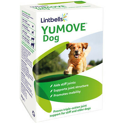 Lintbells YuMove Joint Support Supplement Stiff Old Dogs Glucosamine 120 Tablets