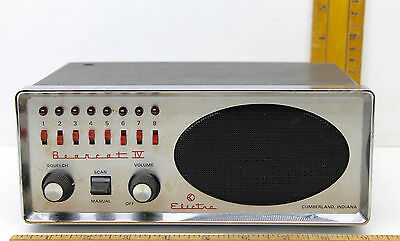 Vintage 1975 Electra Bearcat Crystal Scanner Model BC IV 8 Channel Receiver USA
